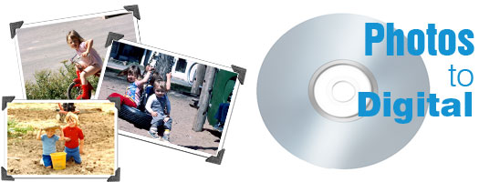 Photo scanning conversion cd dvd