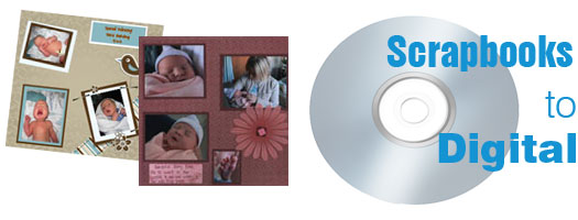 Scrapbook scanning conversion cd dvd